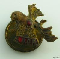 Loyal Order of Moose Pap Vintage Fraternal Member Lapel Pin Moose Bust