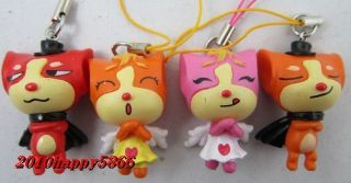 4pcs Very Lovely Lowrie Polymer Mobile Phone Charms Pendant 40x23mm