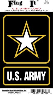US Army Strong Star Logo Car Decal Sticker