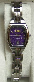 LSU Tigers Fossil Womens Watch Ladies Three Hand Date Cushion LI3022