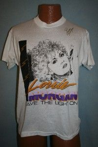 Lorrie Morgan 1989 Leave The Light on Concert Tour T Shirt Large