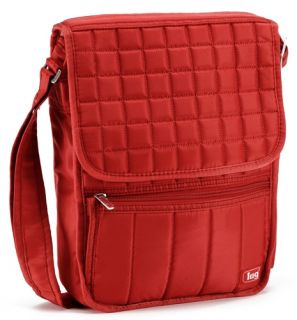 Lug Life Crimson Red Quilted Moped Day Pack Travel Crossbody Purse