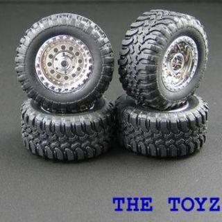 Losi Micro T Desert Truck Chrome Rim Tire Wheel LOSB1573