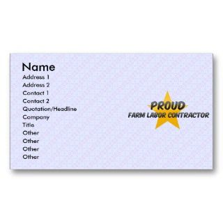 Proud Farm Labor Contractor Business Card Template