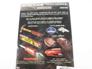 NFL St Louis Rams St Licensed Micro Flames Sticker