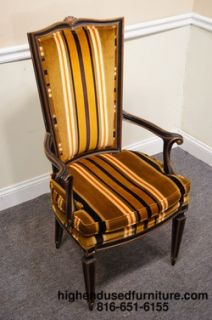 Karges Louis XVI Black and Gold Arm Chair