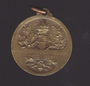 1922 Louis Pasteur by G Prudhomme Bronze Medal Centennial
