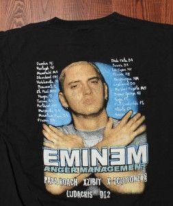Management Tour D12 Ludacris Authentic Black Large T Shirt