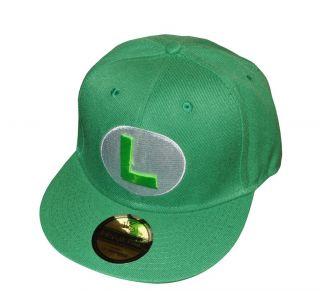 New Underground Kulture Green Luigi Super Mario Snapback Baseball Cap