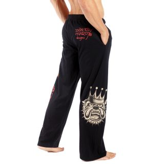 Ed Hardy Black 9057JP Mens Michael Jackson Bulldog Lounge Pants