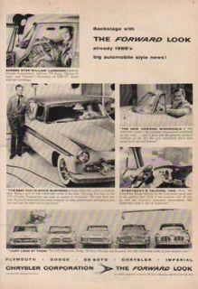 ~Plymouth~Dodge~DeSoto~Imperial William Lundigan Photo Car/Auto Ad