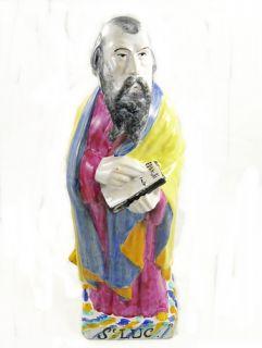 14.5 Vintage SAINT LUKE St. Luc PORCELAIN Figure FIGURINE Evangelist