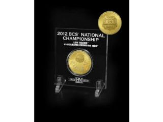 2012 BCS National Championship LSU Tigers vs Alabama Crimson Tide Gold
