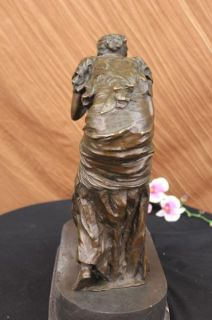 Loving Woman Mother Children Sculpture Unique Art Bronze Marble Statue