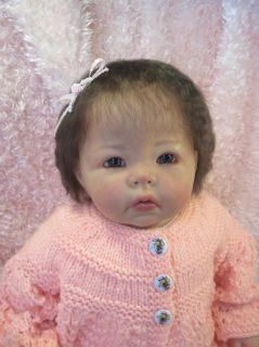Elly Knoops Luca Reborn Baby Girl Doll 3 4 Limbs OOAK