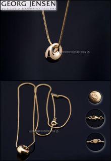 Georg Jensen 18 Ct Gold Pendant 1446 Luna