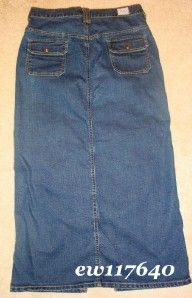 Levi Strauss Stretch Misses Womens Blue Jeans Denim Long Front Split