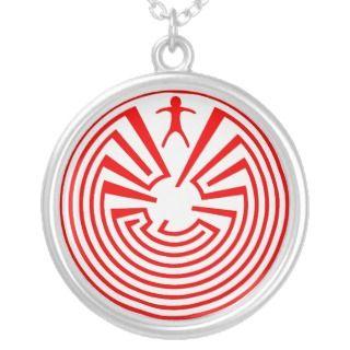 Native American Indian Maze Rosette Custom Jewelry