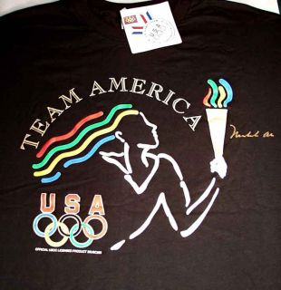 Muhammed Ali 96 Olympic Gold Torch RARE Signed Shirt