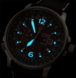 New Leather Citizen Promaster Eco Drive Nighthawk 200M Dive Capacity