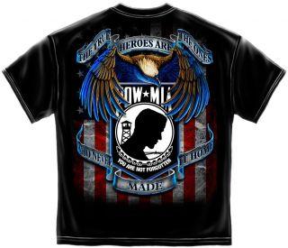 Marine Corps pow MIA True Heroes Eagle Military Public Service T Shirt