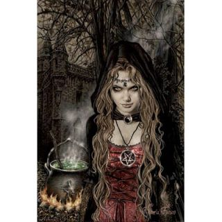 Victoria Frances Cauldron Art Poster Fantasy Goth Witch