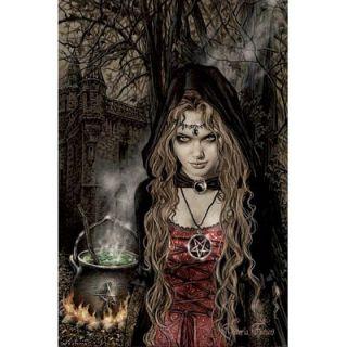 Victoria Frances Cauldron Art Poster Fantasy Goth Witch