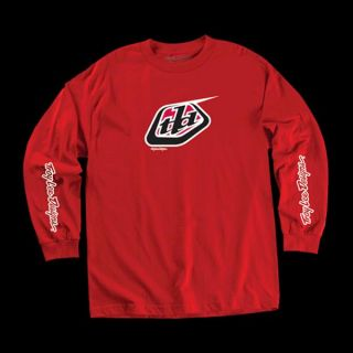Troy Lee Designs Classic Logo Long Sleeve Tee Red SM XXL