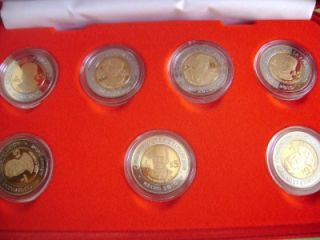 2009 Mexico 7 Coin Revolution 5 Pesos Bimetallic Proof wi Case COA