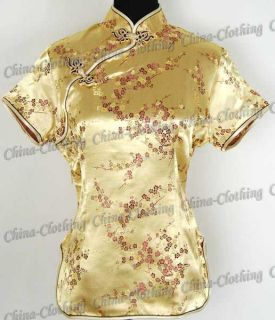 Tunic Top Shirt Pullover Satin Blouse Gold M Sz 12 A37H
