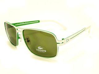 New Lacoste L108S Sunglasses White Green 100 UV