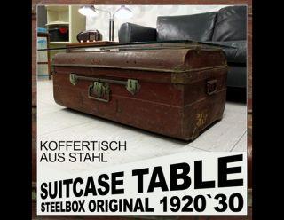 Vintage Art Deco Midcentury Modern Suitcase Table Bauhaus Steel Case