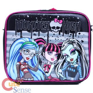 Monster High School Lunch Bag Insulated Snack Box City Nights with