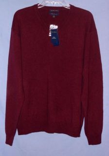 Club Room  Wine Cashmere Sweater Sz XL NWTG $140