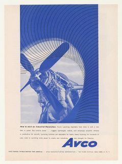 1958 Avco Lycoming Gas Turbine Aircraft Engine Print Ad
