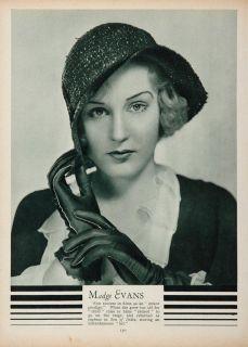 1933 Madge Evans Actress Movie Stage Portrait Print Original Historic