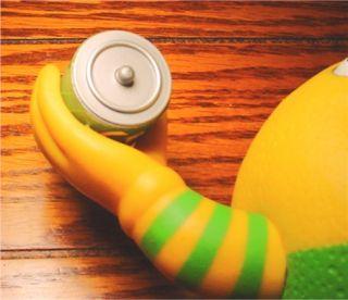 Sprite Coca Cola Talking Sprite Lymon Doll Figure