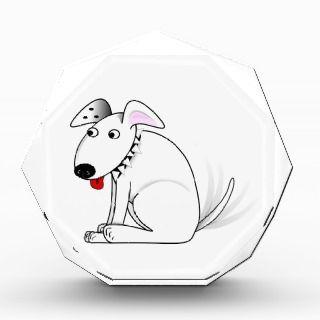 Happy dog cartoon acrylic award