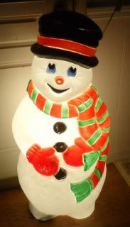 Outdoor Christmas 38 Snowman Blowmold Yard Lawn Decor