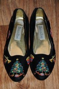 Ugly Christmas Sweater Party Shoes Tree Horn Horse Womens 7 1 2 M