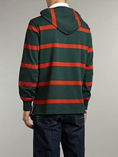 Polo Ralph Lauren Hooded striped rugby top Forest Green