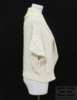 MAGASCHONI White Cable Knit Sweater Size Small
