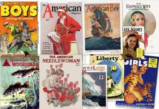 Vintage 1940s America Pulp Magazines in DVD Family Children Liberty