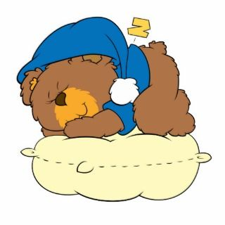 sleeping on pillow cute teddy bear design photo cut outs