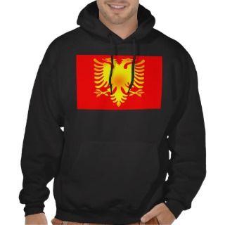 Albanian Golden Eagle Flag Hooded Pullovers