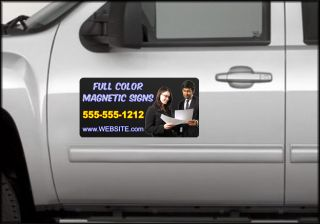COLOR CUSTOM CAR TRUCK VAN DOOR MAGNETS 24 x 12 magnetic vehicle signs