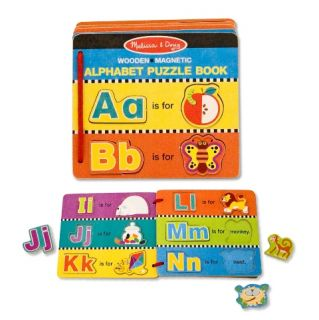 Melissa and Doug Magnetic Alphabet Puzzle Book New