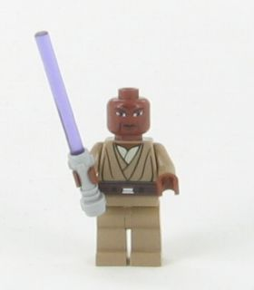 New Lego Star Wars Mace Windu w Light Saber Minifig