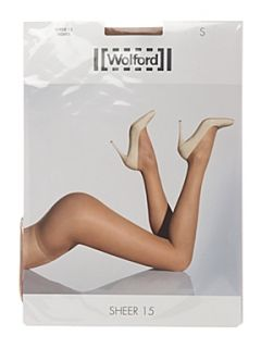 Wolford 15 denier sheer tights promotional pack Caramel