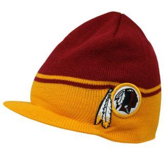 47 Brand Washington Redskins Powerback Visor Knit Hat Burgundy Gold